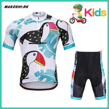 MAKOSHARK ChildrenS Bike MTB Clothing Motobiker Summer Boys Team Bicycle Suit Racing Riding Jersey Pants Sets Motorcycle