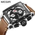Megir Quartz часы мужские роскошные спортивные армейские хронограф наручные часы лучший бренд светящиеся водонепроницаемые Relogios Masculino часы