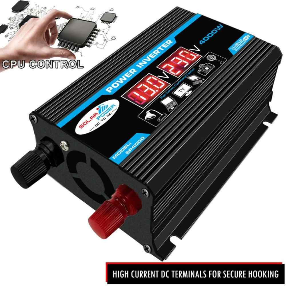 Peak 6000W Digital Mobil Inverter 12V Ke 220V Modified Sine Wave Inverter Tegangan Converter + LCD Display