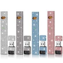 lovekeke Adhesive printing label protector case Glitter Flash sticker wrap skin for JUUL pod vape e