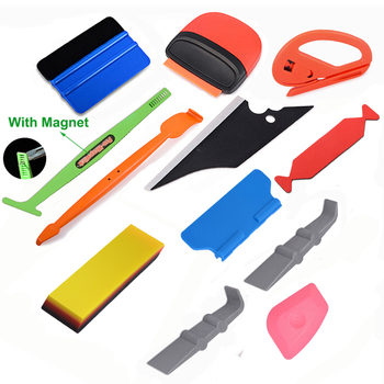 FOSHIO Car Wrapping Tool Carbon Fiber Vinyl Wrap Tools Window Tint Magnetic Decals Film Sticker Squeegee Scraper Sticker Remover foshio 100pcs 1 5 razor blade 2pcs glass ceramic clean scraper window tint tool vinyl car wrap film sticker remover squeegee