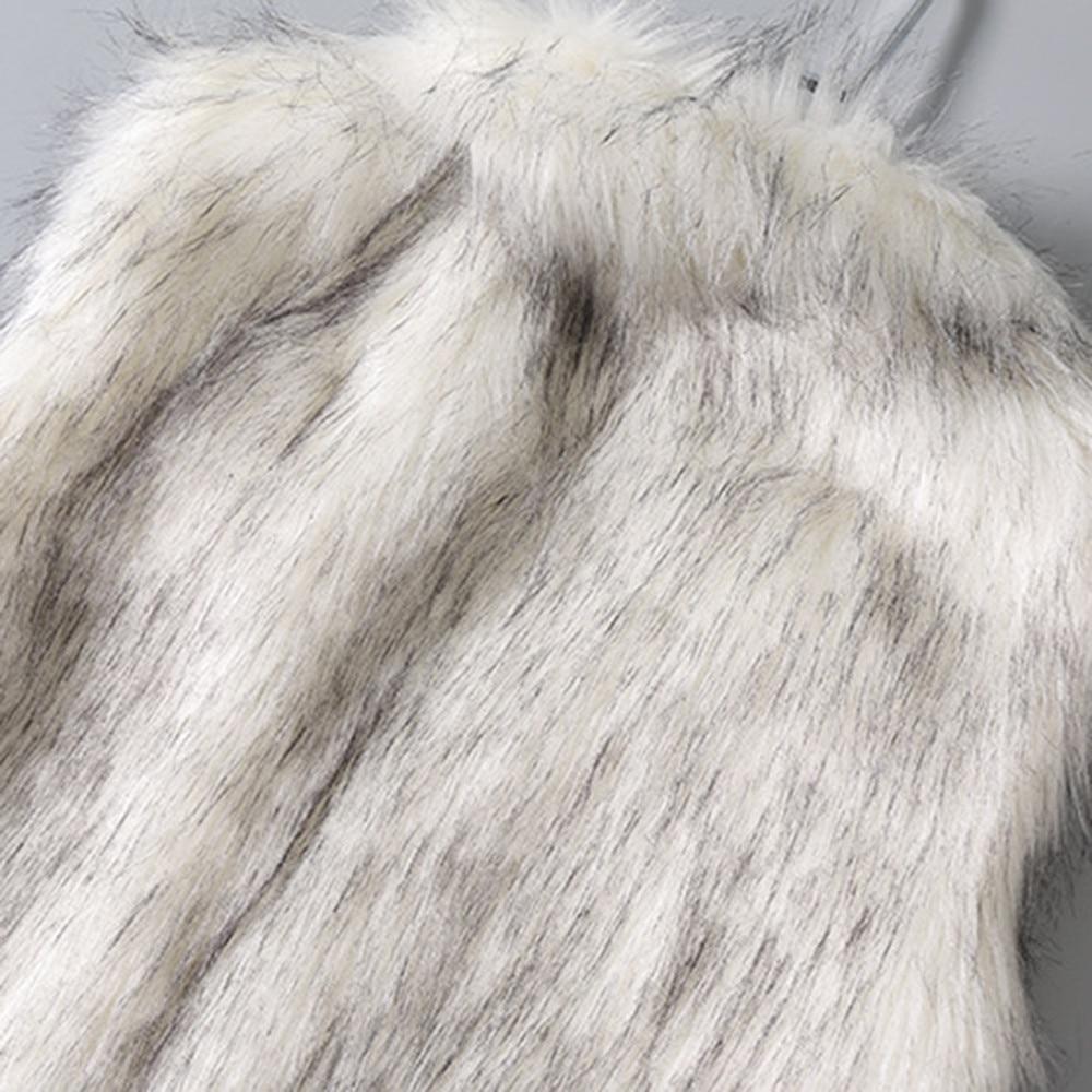 Female Vests Women Arctic Fleece Fur Winter Autumn Slim Striped Crew Neck Long Sleeve Soft Short Lady Blouse Coat Outwear #45
