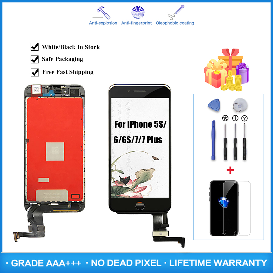 Factory Sale LCD Display For Pantalla <font><b>iPhone</b></font> 6 7 Plus <font><b>6S</b></font> 5S LCD Display Touch Screen for <font><b>Ecran</b></font> Assembly Digitizer for <font><b>iPhone</b></font> 7P image