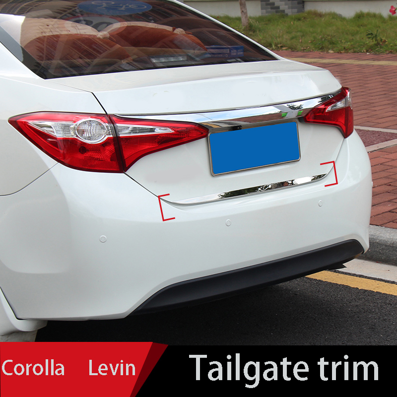 2014 to 2018 for Toyota Corolla tail door trim for LEVIN trunk trim 1.2t Carola double engine trim