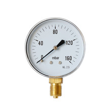 Air-Pressure-Gauge TS-Y60-160mbar for Air Oil Water High Accuracy Hydraulic Pressure Gauge 1/4BSPT For Domestic Heating 1 2 pt threaded 1 6 accuracy class 0 1 mpa air water pressure gauge