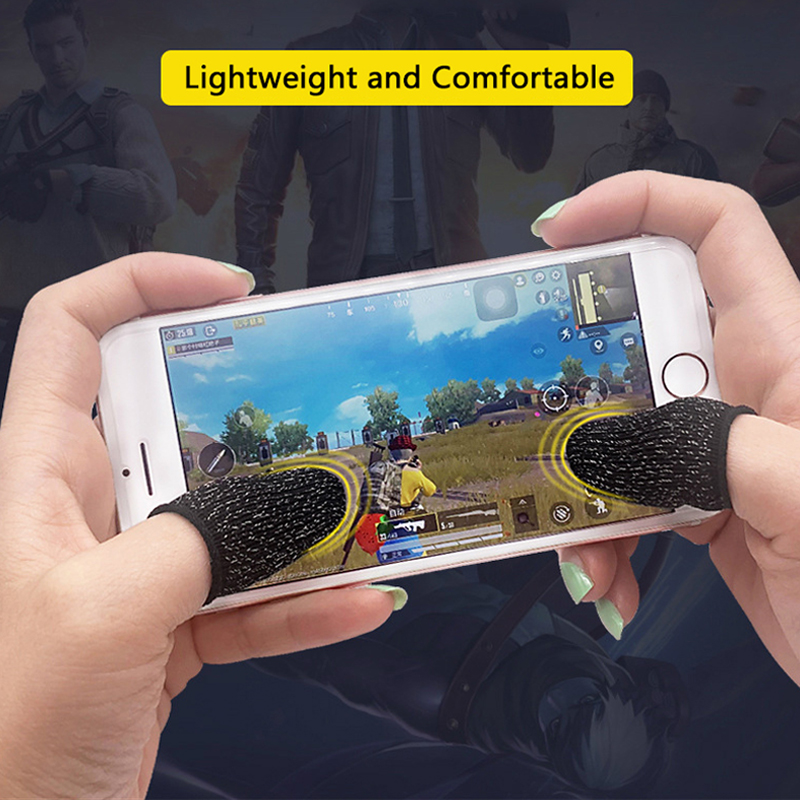 1Pair Sweatproof Touch Screen Thumb Finger Cover Gloves For Mobile Game Controller Non-slip Finger Cots for PUBG Phone Gaming