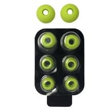 4 pares/set na orelha redonda removível poupado prático portátil macio com caixa de silicone ruído isolado fones de ouvido dica para batidas power3