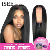 ISEE HAIR Straight Lace Front Wigs For Women Malaysian 150% Density 360 Lace Frontal Wig Straight Lace Front Human Hair Wigs