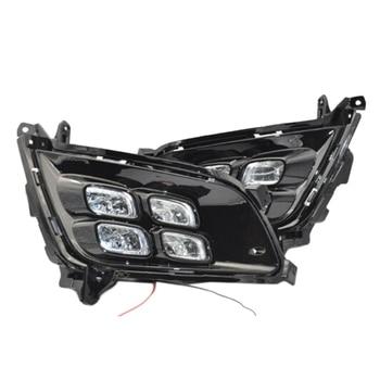 2X DRL LED Daytime Run Light Drive Fog Running Bezel For Kia K5 Optima 2014-2015