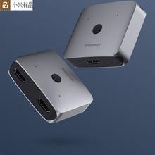 محول يوبين هاجيبيس HDMI متعدد الوظائف محول ثنائي الاتجاه مقسم الوصلات البينية متعددة الوسائط وعالية الوضوح (HDMI) الجلاد 4K 1080P HDTV لحساب صندوق التلفزيون