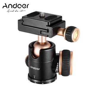 Andoer Q30 CNC Panorama Tripod Ball Head 360 Degree Rotation with 1/4 Inches Screw 3/8 Inches Screw Hole for Smartphone Camera