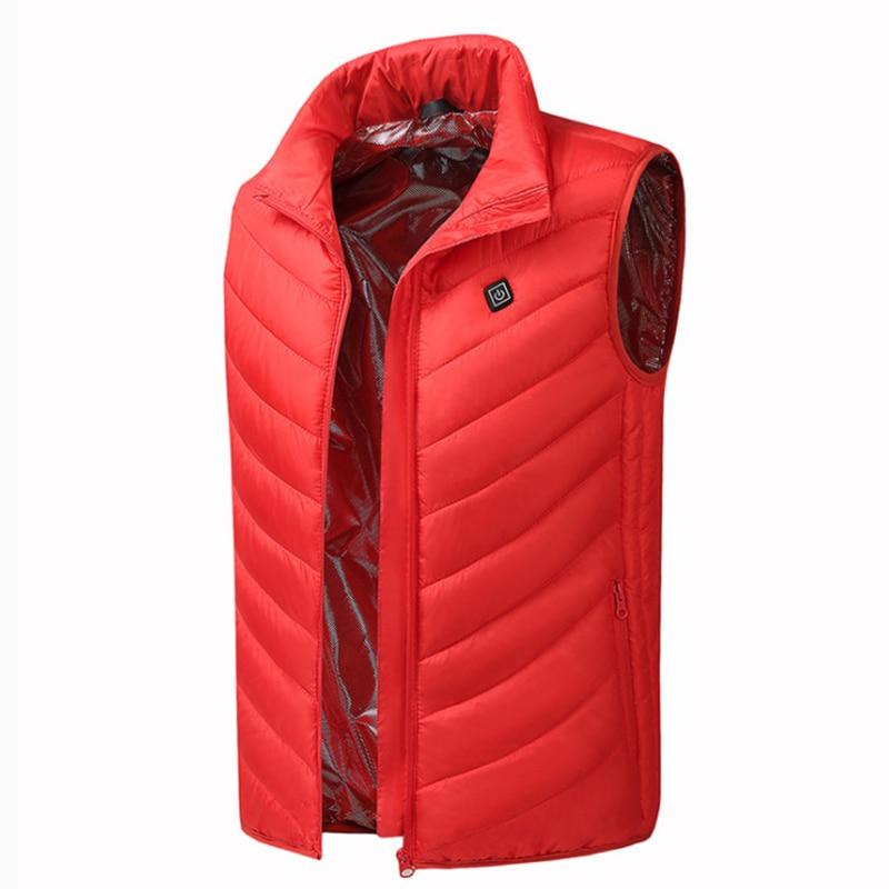 Electric USB Winter Heated Warm Vest  Heating Unisex Coat Jacket Clothing