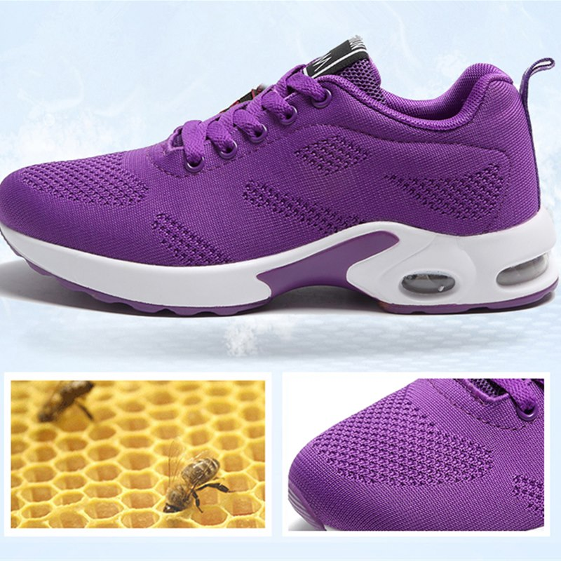 Fashion Women Sneakers Running Shoes Outdoor Sports Shoes Breathable Mesh Comfort Jogging Mesh Shoes Air Cushion Lace Up Ladies 1