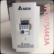 7.5KW 380V VFD075M43A Delta Inverter   3 Phase 380V Rated 18 A 100% New 7500W VFD Series Invertor Variable Speed AC Motor Drive
