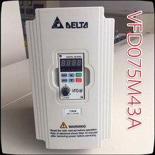 цены 7.5KW 380V VFD075M43A Delta Inverter   3 Phase 380V Rated 18 A 100% New 7500W VFD Series Invertor Variable Speed AC Motor Drive