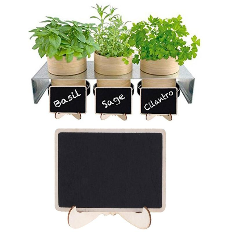 Mini Wooden Blackboard With Removable Stand Chalkboard Message Boards New Portable Sign Wedding Party Decoration For Table Memo