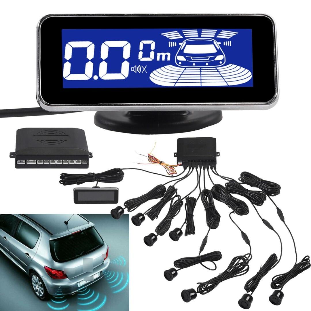 New Car Parking Sensors Radar System Sensor Kit LCD Reverse 8 Rear Front View