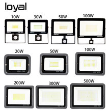 Led Floodlight PIR Motion Sensor Led Flood Light 10W 20W 30W 50W 100W 150W 200W 300W500W light outdoor waterproof IP66 Spotlight(China)