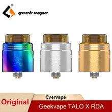 Orijinal Geekvape TALO X RDA 24mm Vape tankı Rebuildable damlama Atomizer 510 iplik Pin Squonk kutusu Mod VS wasp Nano