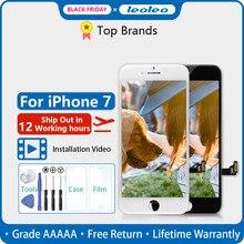 """LEOLEO pantalla LCD para iPhone 7, 7G, i7, 4,7 """", montaje digitalizador con pantalla táctil y regalo, color blanco y negro, 10 unidades"""