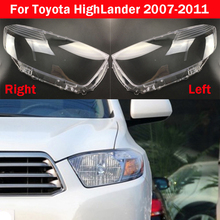 Front Headlight Glass Cover Headlamps Transparent Lampshades Lamp Shell For Toyota HighLander 2007 2011