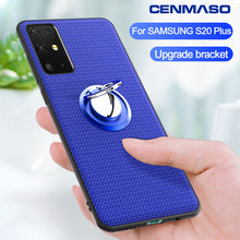 For Samsung S20 Ultra Case for Samsung Galaxy S20 S10 Plus Note 10 Plus A50 A51 A71 Case Car Magnetic Stand Ring Back Cover(China)