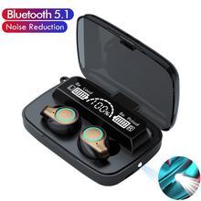 M18 TWS אלחוטי אוזניות Bluetooth אוזניות LED תצוגת ספורט עמיד למים אוזניות HiFi סטריאו אוזניות עם מיקרופונים F9