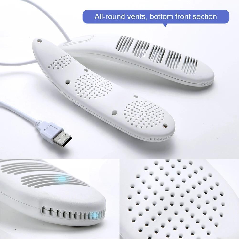 Shoes Dryer Heating Portable Dehumidifying USB Powered Timing Foot Warmer Winter