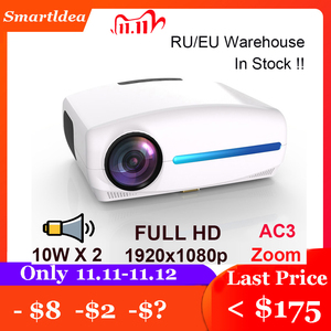 Image 1 - Smartldea 1080P 4K Full HD Projector,Android 9.0 Optional,1920x1080P Resolution 6500lumen,LED Proyector Home Theater,3D Beamer