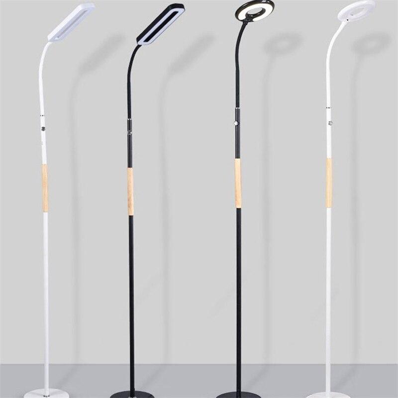 Nordic Minimalist LED Floor Lamp Modern Standing Light Living Room Stand Study Floor Light Remote Dimming Industrial Luminaire