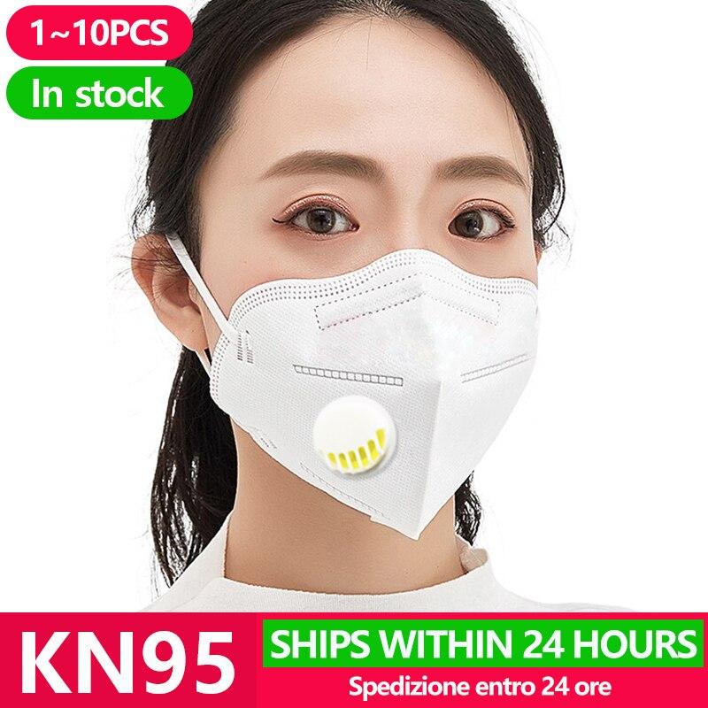 [20pcs] KN95 Anti Virus Mouth Mask Respirator Protection Flu Facial Gas Antivirus Face Masks Fpp1 Fpp3 Ffp2 Ffp3 N95 Kf94 N 95