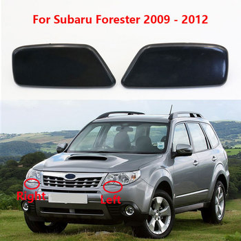 1 Pair Front Left+Right Headlight Washer Spray Nozzle Cover For Subaru Forester 2009 2010 2011 2012 OEM 86636SC030 86636SC020 image