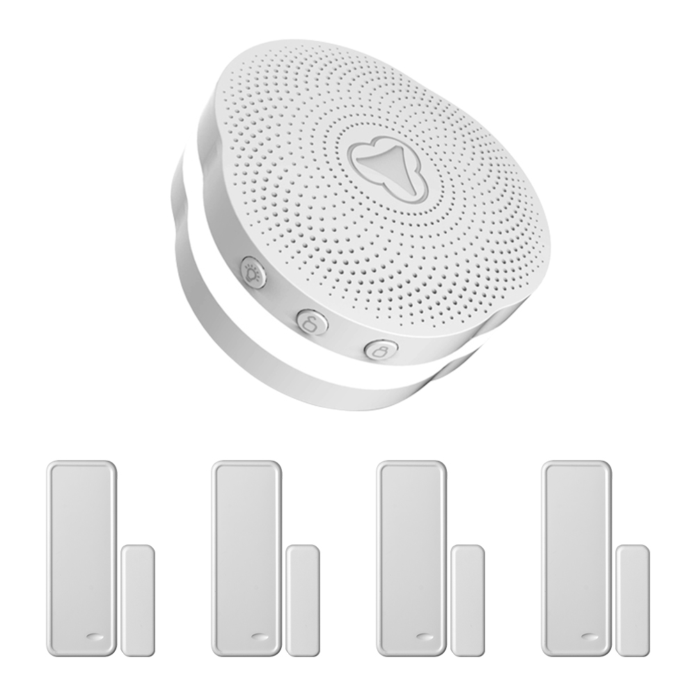 KERUI Tuya Multifunctional Gateway Work With Google Assistant/Alexa Control WIFI Home Security Intelligent Smart Alarm System