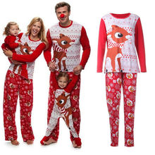 Imcute 2019 Family Matching Merry Christmas Pajamas PJs Set Kid Xmas Sleepwear Nightwear Clothes Casual Outfits New Year Gift цена