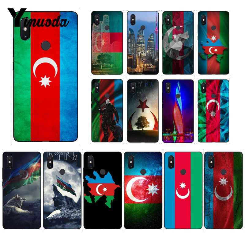 Yinuoda أذربيجان بوتا العلم غطاء أسود لينة قذيفة حقيبة لهاتف xiaomi mi 6 mi x2 mi x2S 5A 6A 7A الأحمر mi 5 note5 Note7 8pro