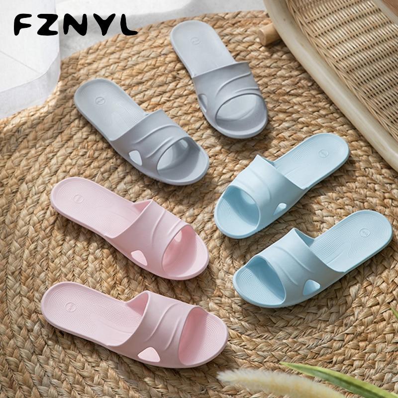 FZNYL Home Slippers Men Women Unisex Ultralight Bathroom Slides Outdoor Travel Portable Fold-able Flip Flops Sandals Shoes