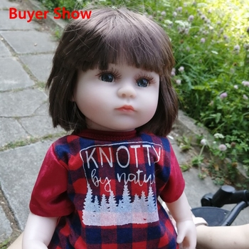 Reborn Baby Doll 42CM Baby Reborn Dolls Toys For Girls Accompany Doll Lifelike Toddler Blue