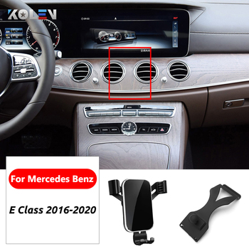 Car Mobile Phone Holder For Mercedes Benz E Class W213 E200 E300 E400 E220 360 Degree Gravity Stand GPS Air Vent Mount Bracket image