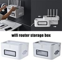 Drawer Design Wifi Router Storage Box Patch Board Socket Holder Wall Mounted Storage Organizer Cable Storage Box Home Decor