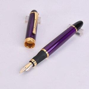 Роскошные перьевые ручки Jinhao X450, высококачественные металлические перьевые ручки для офисных принадлежностей, школьные принадлежности, 2020