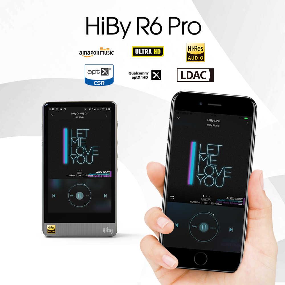Hiby R6Pro Nhạc Lossless Cao Độ Phân Giải Kỹ Thuật Số Âm Thanh Hi-Fi Bluetooth MP3 Người Chơi Amazon Music Ultra HD Thép Không Gỉ