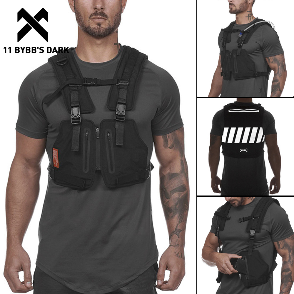 11 BYBB DARK Reflective Outdoor Sport Vest Men 2020 Adventure Multifunction Breathable Tactical Pocket Utility Vests Streetwear