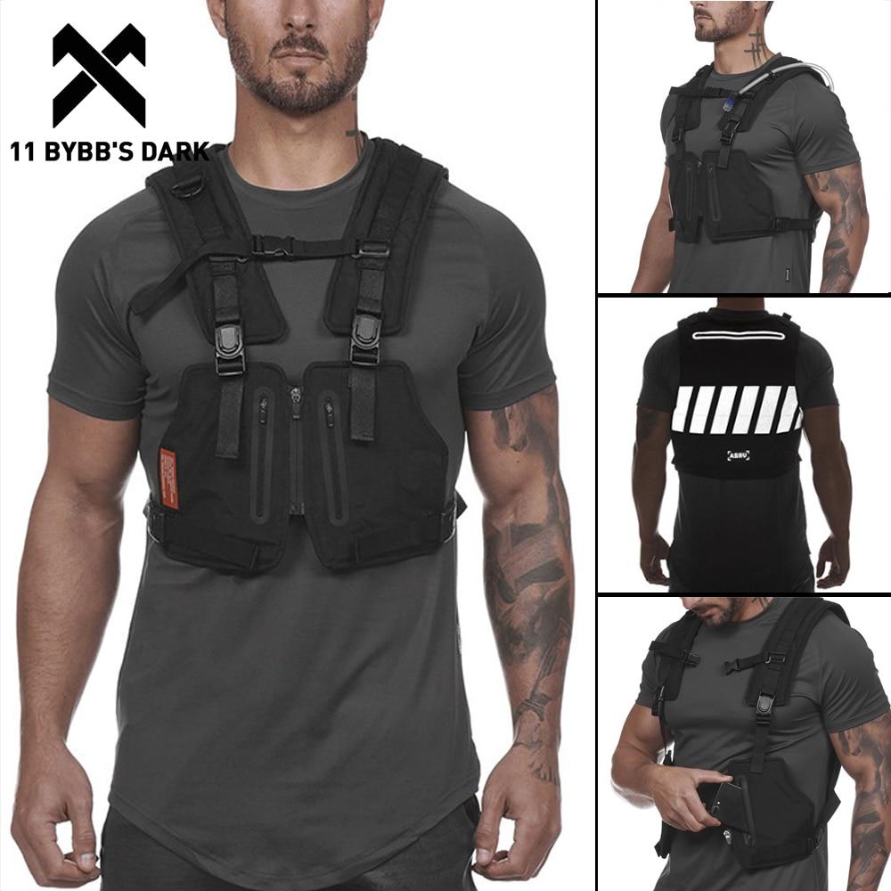 11 BYBB DARK Reflective Outdoor Sport Vest Men 2020 Adventure Multifunction Breathable Tactical Pocket Utility Vests Streetwear