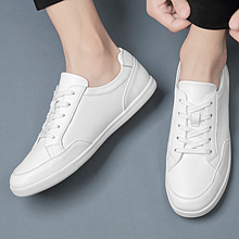 Big Size 45 White Shoes Flats 2019 Spring Casual Shoes Men Sneakers Casual Soft Leather Men Shoes Fashion Male sneakers *8958