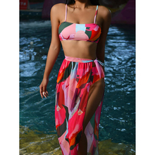 High Waist Bikini 2021 Sexy Swimsuit Women Swimwear Swim Cover up Bikini Set 3 piece Female Beach Wear Swimming for Bathing Suit