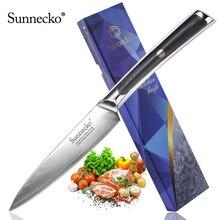 Sunnecko couteau utilitaire japonais de 5 pouces VG10 lame tranchante de rasoir en acier couteaux de Chef de cuisine, damas G10 manche exquis