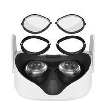 Para oculus quest 2 vr óculos magnéticos anti-azul moldura da lente desmontar rápida lente clipe proteção para oculus quest 2 óculos