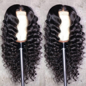 Loose Deep Wave 13x6 lace Front Wigs 360 Lace Frontal wig Brazilian Human Hair Wigs 180 High-Density For Black Women Remy QT(China)