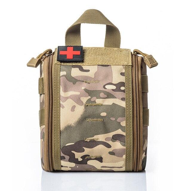 캠핑 응급 처치 키트 응급 처치 가방 빈 의료 가방 방수 군사 전술 블랙 야외