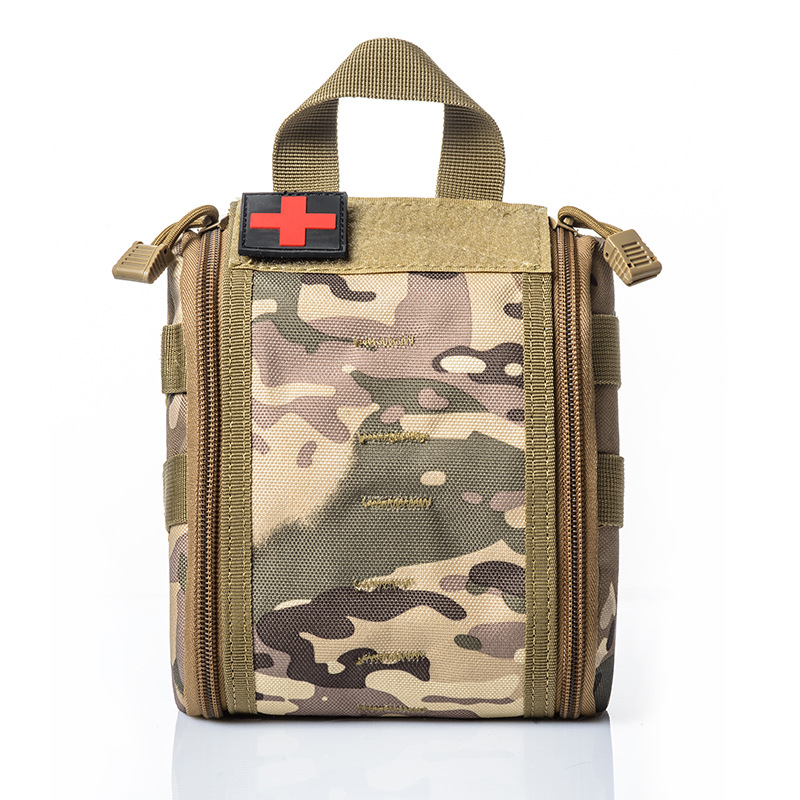 Camping First Aid Kit Emergency First Aid Bag Empty Medical Bag Waterproof Military Tactical Black Outdoor